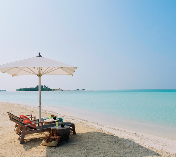 Parelwitte stranden op de Malediven
